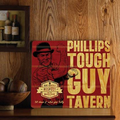 Picture of Personalized Tough Guy Wood Tavern and Bar Sign