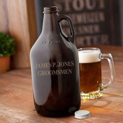 Picture of Personalized Amber Beer Growler