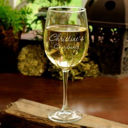 Picture of Personalized Connoisseur White Wine Glass