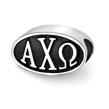 Picture of Alpha Chi Omega Sorority Sterling Silver Bead