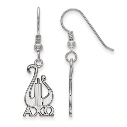 Picture of Alpha Chi Omega Sorority Sterling Silver Dangle Earrings