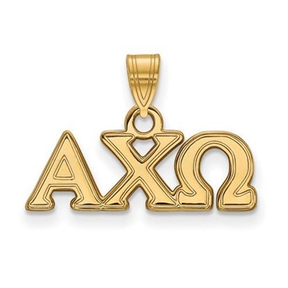 Picture of Alpha Chi Omega Sorority Sterling Silver Gold Plated Small Pendant