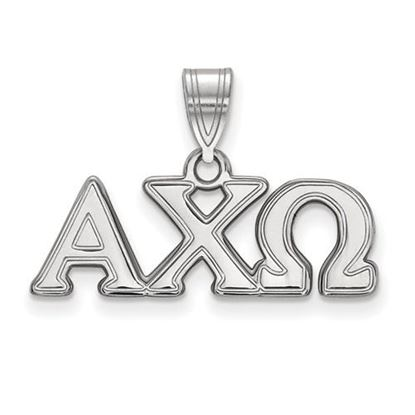 Picture of Alpha Chi Omega Sorority Sterling Silver Medium Pendant