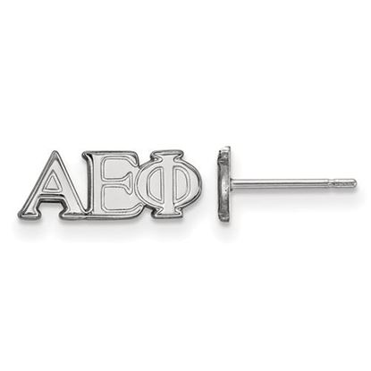Picture of Alpha Epsilon Phi Sorority Sterling Silver Extra Small Post Earrings
