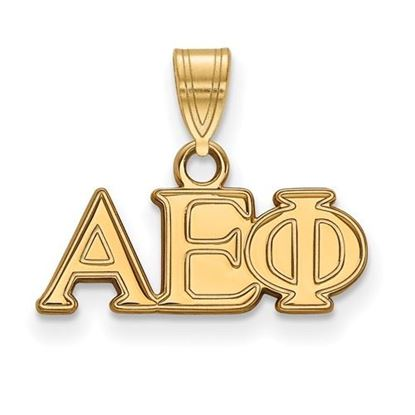 Picture of Alpha Epsilon Phi Sorority Sterling Silver Gold Plated Small Pendant