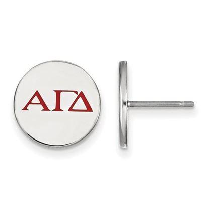 Picture of Alpha Gamma Delta Sorority Sterling Silver Enameled Post Earrings