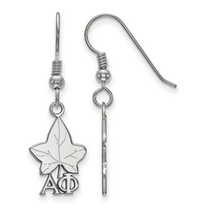 Picture of Alpha Phi Sorority Sterling Silver Small Dangle Earrings