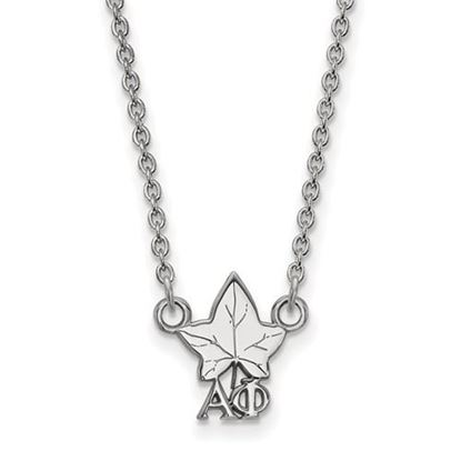 Picture of Alpha Phi Sorority Sterling Silver Extra Small Pendant Necklace
