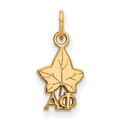 Picture of Alpha Phi Sorority Sterling Silver Gold Plated Extra Small Pendant