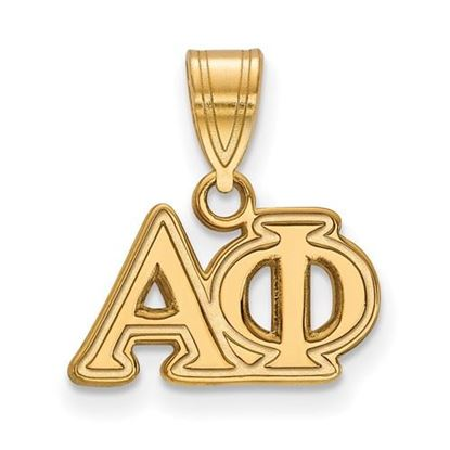 Picture of Alpha Phi Sorority Sterling Silver Gold Plated Medium Pendant