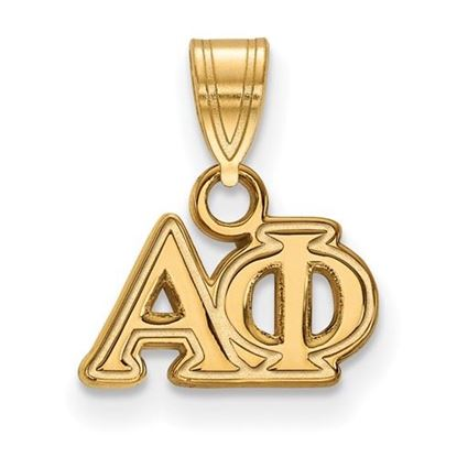 Picture of Alpha Phi Sorority Sterling Silver Gold Plated Small Pendant