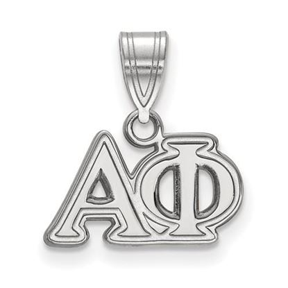 Picture of Alpha Phi Sorority Sterling Silver Medium Pendant