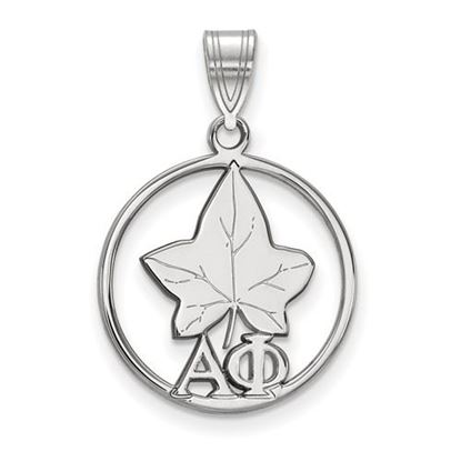 Picture of Alpha Phi Sorority Sterling Silver Small Circle Pendant