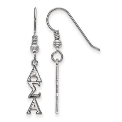 Picture of Alpha Sigma Alpha Sorority Sterling Silver Dangle Earrings