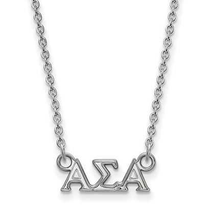 Picture of Alpha Sigma Alpha Sorority Sterling Silver Extra Small Pendant Necklace