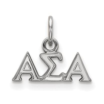 Picture of Alpha Sigma Alpha Sorority Sterling Silver Extra Small Pendant