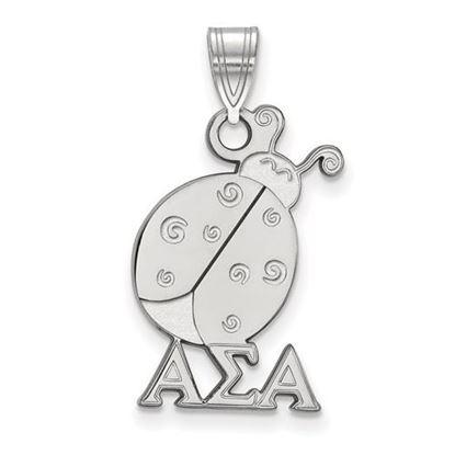 Picture of Alpha Sigma Alpha Sorority Sterling Silver Medium Pendant
