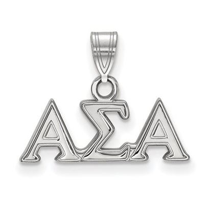 Picture of Alpha Sigma Alpha Sorority Sterling Silver Small Pendant