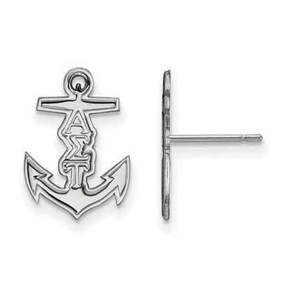 Picture of Alpha Sigma Tau Sorority Sterling Silver Extra Small Post Earrings