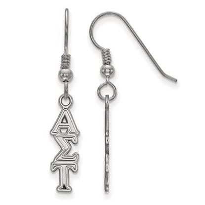 Picture of Alpha Sigma Tau Sorority Sterling SilverDangle Earrings