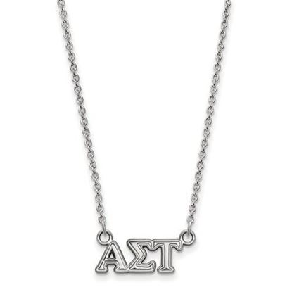 Picture of Alpha Sigma Tau Sorority Sterling Silver Extra Small Pendant Necklace