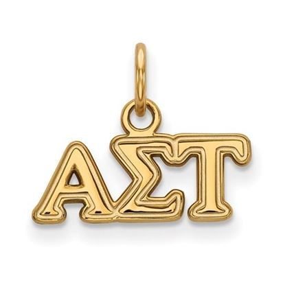 Picture of Alpha Sigma Tau Sorority Sterling Silver Gold Plated Extra Small Pendant