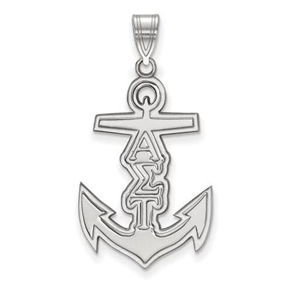 Picture of Alpha Sigma Tau Sorority Sterling Silver Medium Pendant