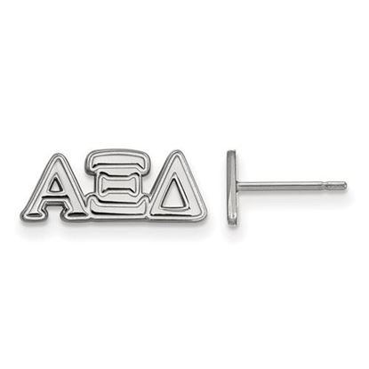 Picture of Alpha Xi Delta Sorority Sterling Silver Extra Small Post Earrings