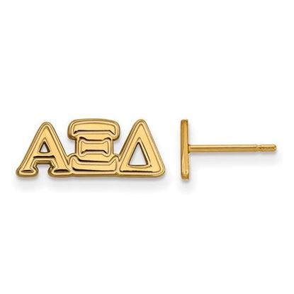 Picture of Alpha Xi Delta Sorority Sterling Silver Gold Plated Extra Small Post Earrings