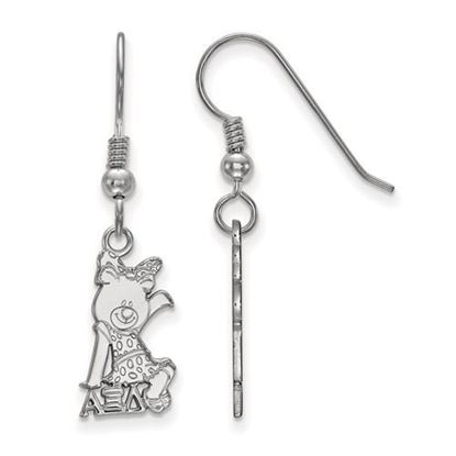 Picture of Alpha Xi Delta Sorority Sterling Silver Small Dangle Earrings