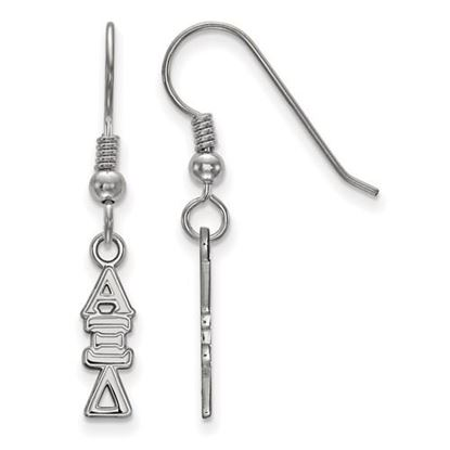 Picture of Alpha Xi Delta Sorority Sterling Silver Dangle Earrings