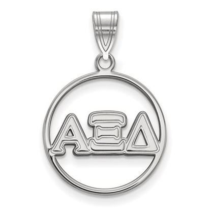 Picture of Alpha Xi Delta Sorority Sterling Silver Circle Pendant