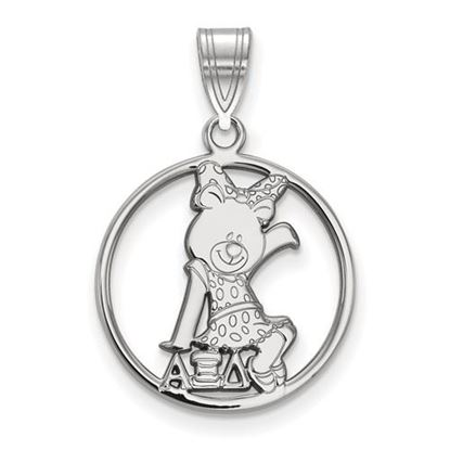 Picture of Alpha Xi Delta Sorority Sterling Silver Small Circle Pendant