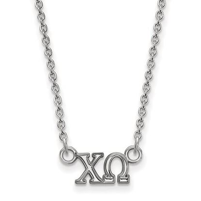 Picture of Chi Omega Sorority Sterling Silver Extra Small Pendant Necklace