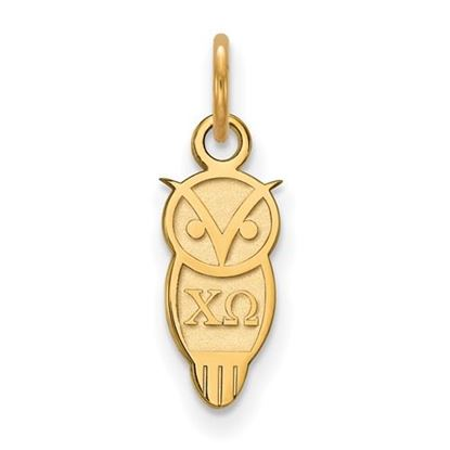 Picture of Chi Omega Sorority Sterling Silver Gold Plated Extra Small Pendant