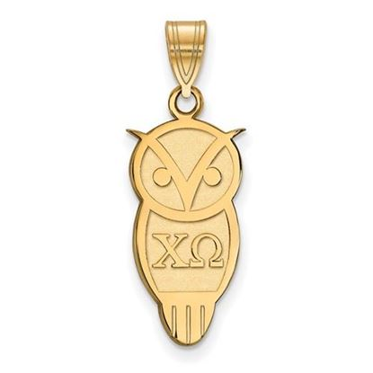 Picture of Chi Omega Sorority Sterling Silver Gold Plated Medium Pendant