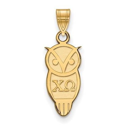 Picture of Chi Omega Sorority Sterling Silver Gold Plated Small Pendant