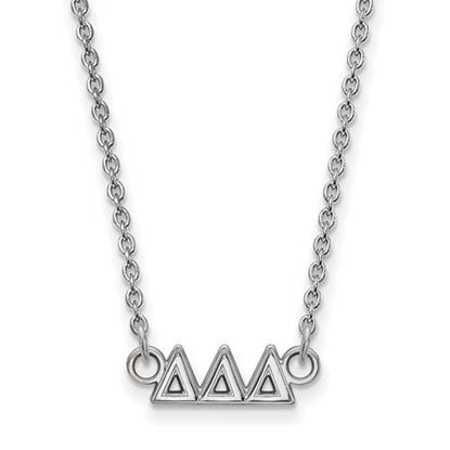 Picture of Delta Delta Delta Sorority Sterling Silver Extra Small Pendant Necklace