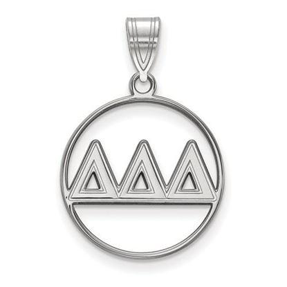 Picture of Delta Delta Delta Sorority Sterling Silver Circle Pendant