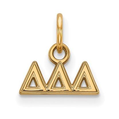 Picture of Delta Delta Delta Sorority Sterling Silver Gold Plated Extra Small Pendant