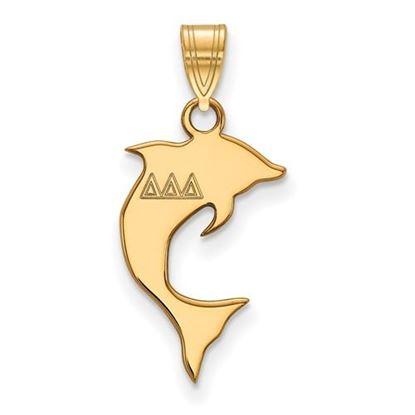 Picture of Delta Delta Delta Sorority Sterling Silver Gold Plated Small Pendant