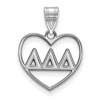 Picture of Delta Delta Delta Sorority Sterling Silver Heart Pendant