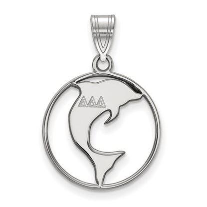 Picture of Delta Delta Delta Sorority Sterling Silver Small Circle Pendant
