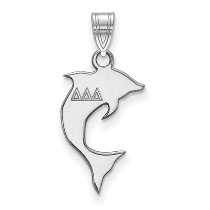 Picture of Delta Delta Delta Sorority Sterling Silver Small Pendant
