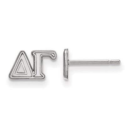 Picture of Delta Gamma Sorority Sterling Silver Extra Small Post Earrings