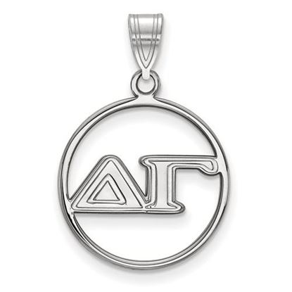 Picture of Delta Gamma Sorority Sterling Silver Circle Pendant