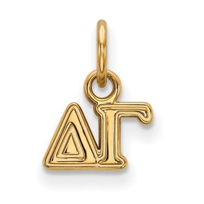 Picture of Delta Gamma Sorority Sterling Silver Gold Plated Extra Small Pendant
