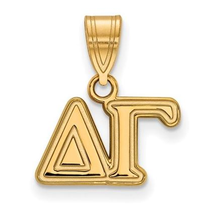 Picture of Delta Gamma Sorority Sterling Silver Gold Plated Medium Pendant