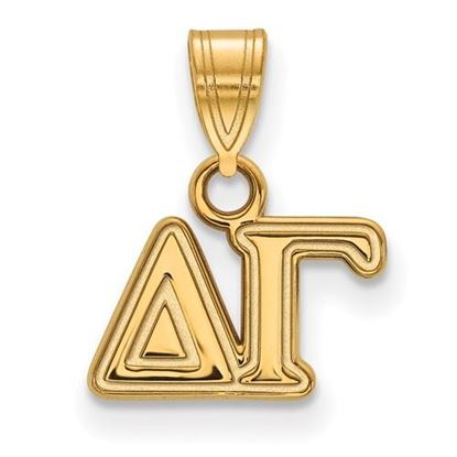 Picture of Delta Gamma Sorority Sterling Silver Gold Plated Small Pendant