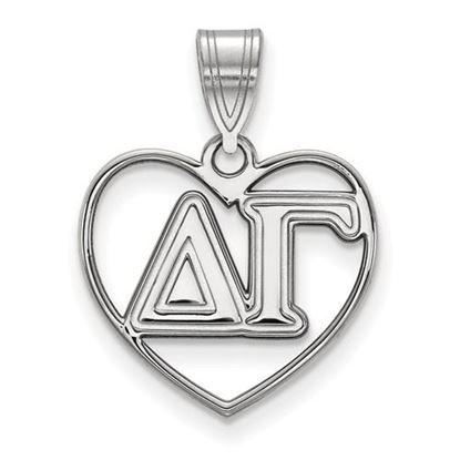 Picture of Delta Gamma Sorority Sterling Silver Heart Pendant